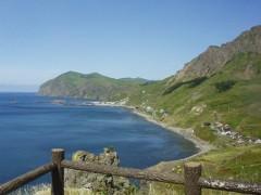 猫台・桃台からの礼文島西海岸の眺め